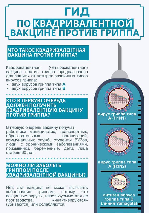 Гид по квадривалентной вакцине гриппа